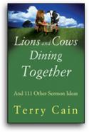 Lions And Cows Dining Together